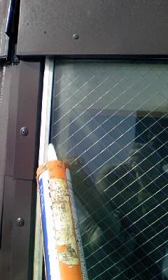 窓枠 シール補修