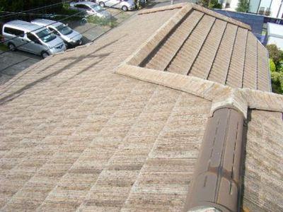 瀬谷区 屋根塗装 モニエル瓦