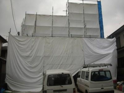 外壁塗装 足場