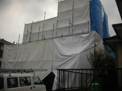 外壁塗装 足場�A