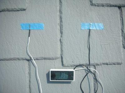 断熱塗装 ガイナ 塗装後の温度