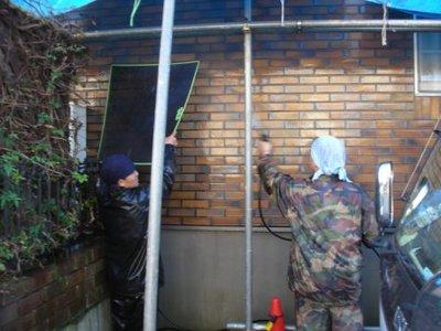 外壁タイルの洗浄