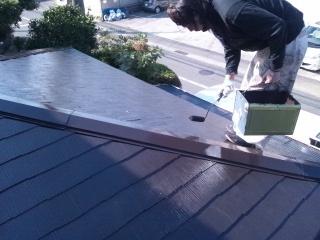 茅ヶ崎市 屋根塗装コロニアル