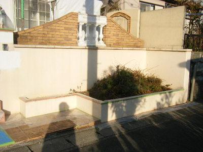 門の周り塗装