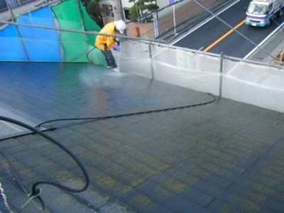 厚木市 屋根洗浄