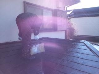 茅ヶ崎市 屋根塗装�A コロニアル