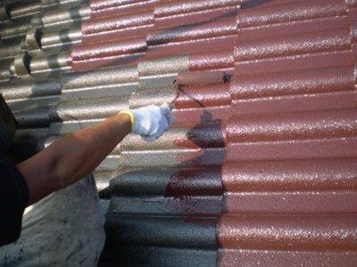 屋根塗装 中塗り�A